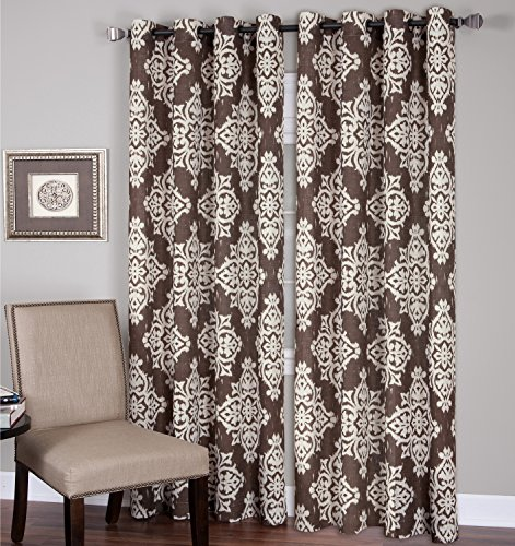 Elrene Home Fashions 026865796339 Grommet Top Linen Look Single Panel Window Curtain Drape, 52
