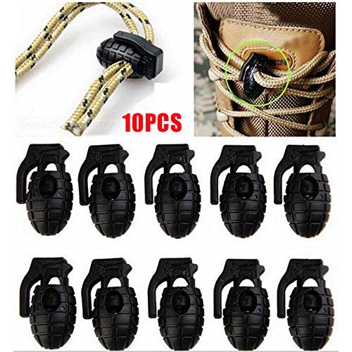 Tactical da Arrampicata scarpe pezzi stringere Beautyrain Laccio fibbia lotto per EDC trekking scarpe Clip da 10 Fibbia Outdoor scarpe Non con Gear 8xXwq74w0