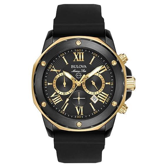 7ae3cb02ba46 Bulova Marine Star 98B278 - Reloj de Pulsera de Diseño para Hombre -  Función de Cronógrafo