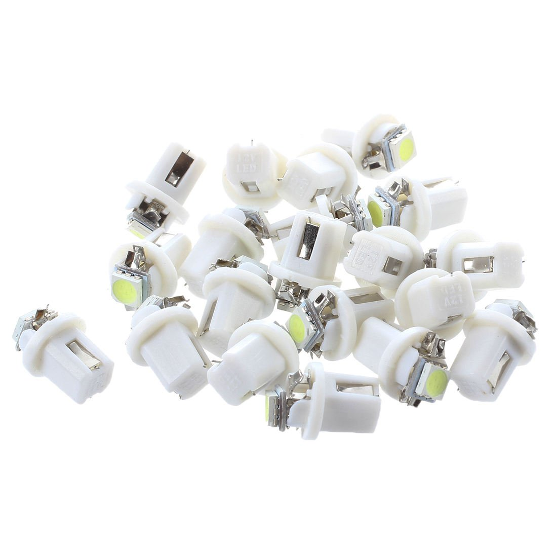 LED Indicator Light - SODIAL(R) 20X T5 B8.5D SMD 5050 Car LED Indicator Light C5W Side Interior Lamp Bulb White 062322