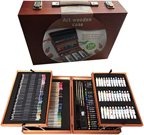 ZXYSHOP 168-Piece Art Supplies Deluxe Art Set Pintura Y El Dibujo ...