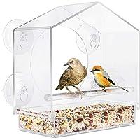 POPETPOP Window Bird Feeders,Acrylic Bird Feeder Window with Suction Cups Bird Feeders and Houses-See Songbirds from…