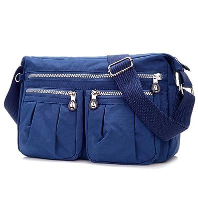 880edeafbc534 sportliche Handtasche   Schultertasche   Umhängetasche aus Nylon ...