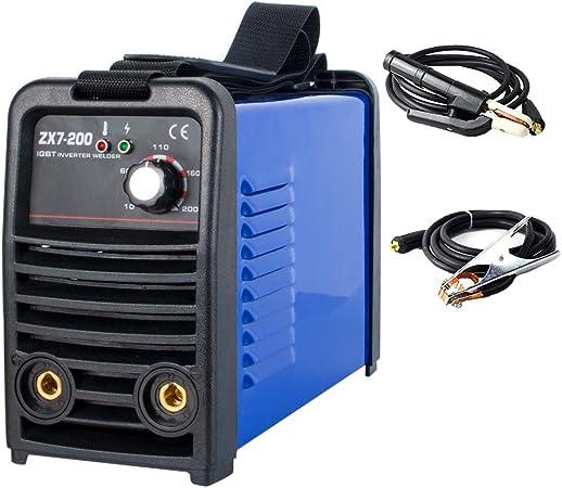ZX7-200 200 Amp DC IGBT Inverter Mini Digital Stick Welder Welding Machine MMA