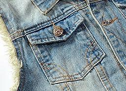 Eternal Women Winter Spring Cotton Sleeveless Jeans Denim Vest Jacket Outerwear Clothes (M, Vest-6)