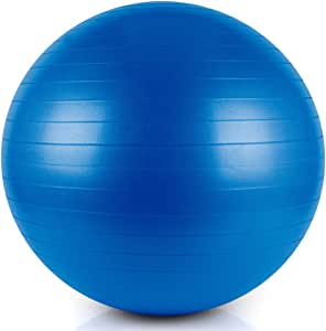 Bloodyrippa Exercise Ball, Anti-Explosion, Heavy Duty Fitness Ball, Ideal for Home Gym, Stability, Balance, Office Ball Chair, Come with Quick Pump