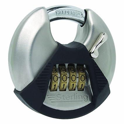 Disc Padlock With Combination 4-dial Lock - Padlock