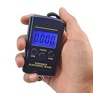 ... Digital Pesaje Electrónico de Mano Pocket Mini Escala Escala Equipaje de Pesca Gancho Báscula de Cocina Instrumento de medición,20Kg.: Amazon.es: Hogar