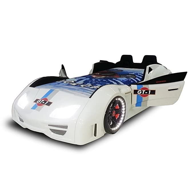 Amazon.com: Turbobeds GT1-H-W Contemporary Turbo Car Bed Opening Doors and Interior, Twin: Kitchen & Dining