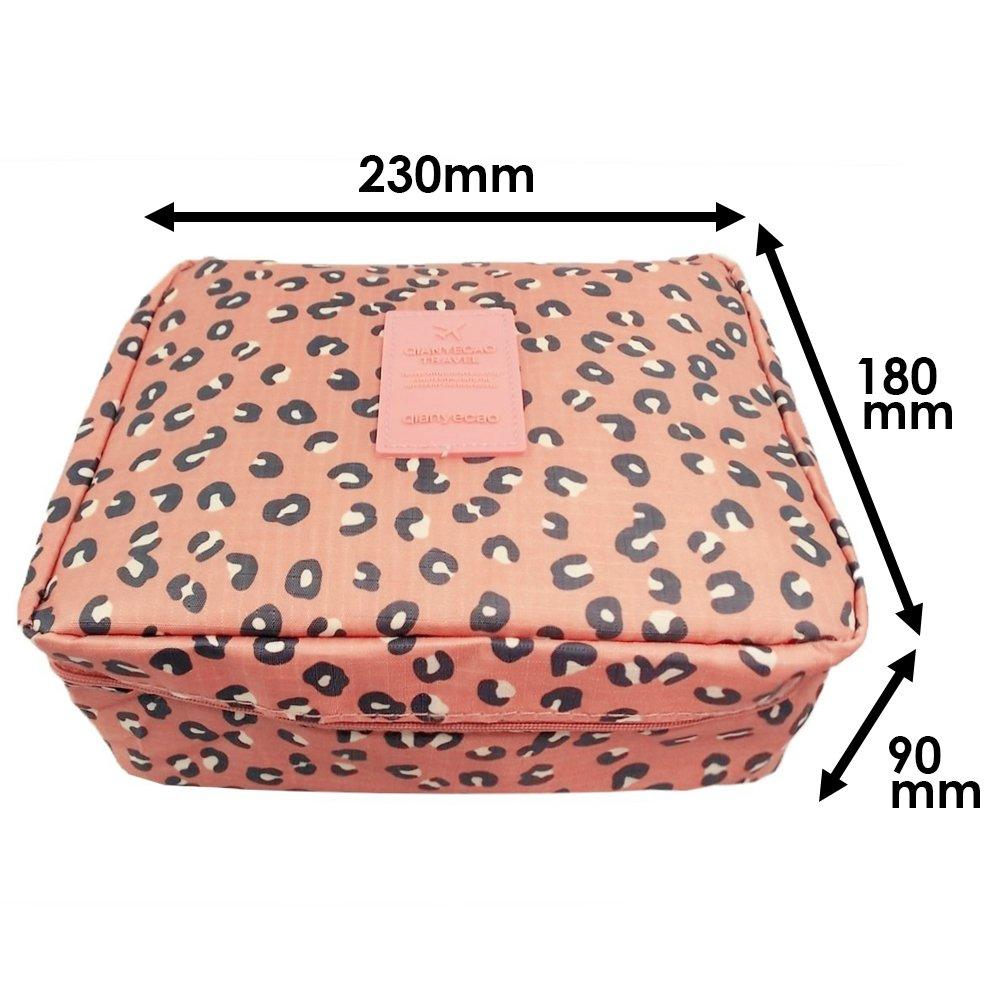 WSS L/éopard de p/êche avec crochet Multi-usages Unisexe Sac portable Imperm/éable Lavage Sac Compartiments multiples Trousse de maquillage Vacances d/ét/é Voyage Mod/èle Sacs de toilette