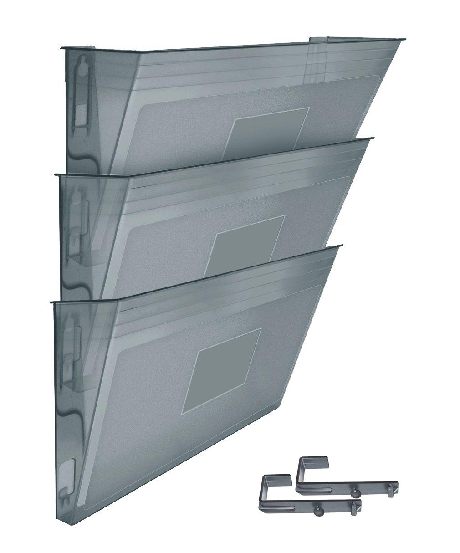 Acrimet Wall-mounted Modular File Holder (3 - Pack) (Smoke Color)