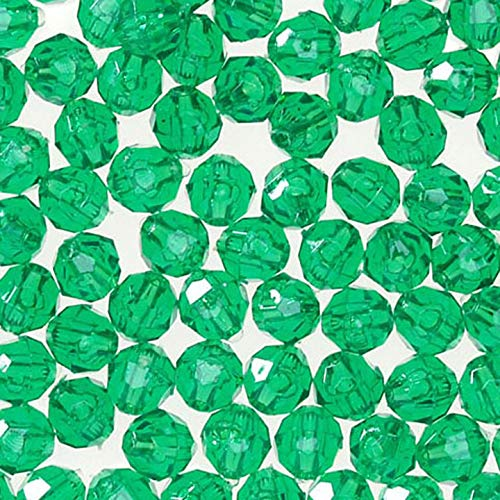 Darice Bulk Buy DIY Faceted Acrylic Beads Round Transparent Christmas Green 12mm 144 Pieces (1-Pack) 06119-3-T12