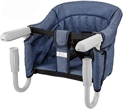 Folding Baby Hook On Seat for Home and Travel , Portable Table High Chair with Transport Bag , Easy Hook On Table Seat , Baby Seat For Table.