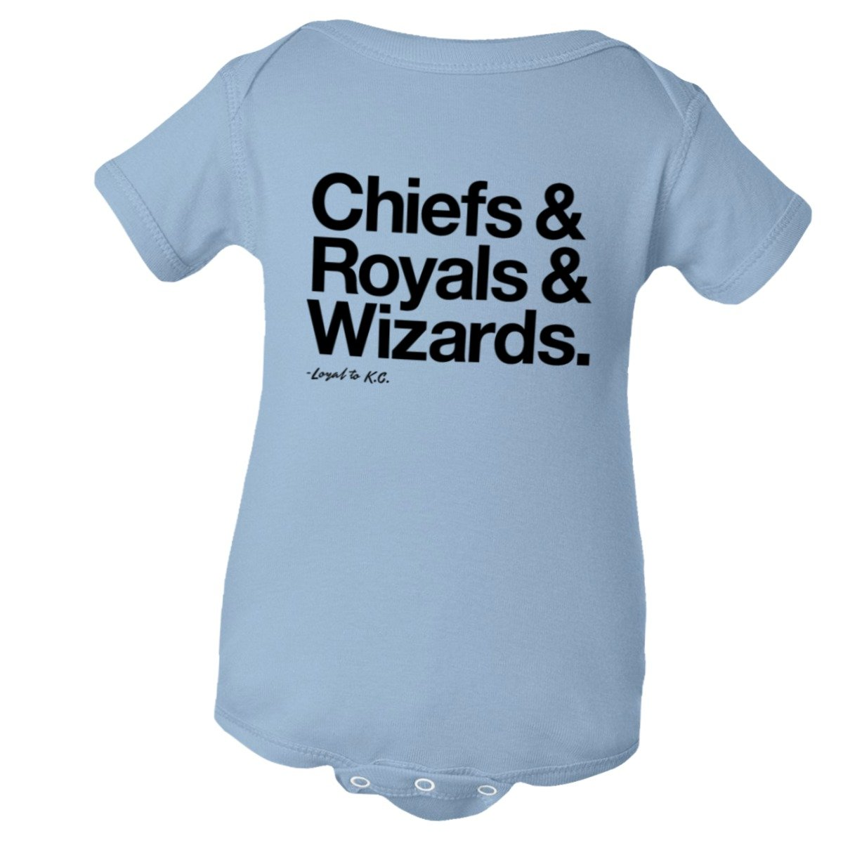 Baby Creeper Loyal Chiefs Royals Wizards Sports Ball HQ 1-Pc Jumper