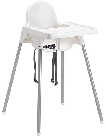 Baby High Chairs Seggiolone Ikea Pappa Antilop Con Vassoio Bianco Bambini Salvaspazio Tavolo