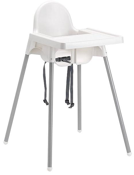 trona para silla taburete antilop IKEA Blanco de mesa para niño niña con diseño de Niños de Resina y Metal para Casa restaurante cinturón de seguridad ...