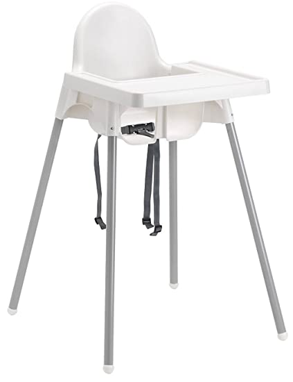 ikea antilop seggiolone  Ikea Antilop Highchair with Tray,safety Belt, White, Silver Color ...
