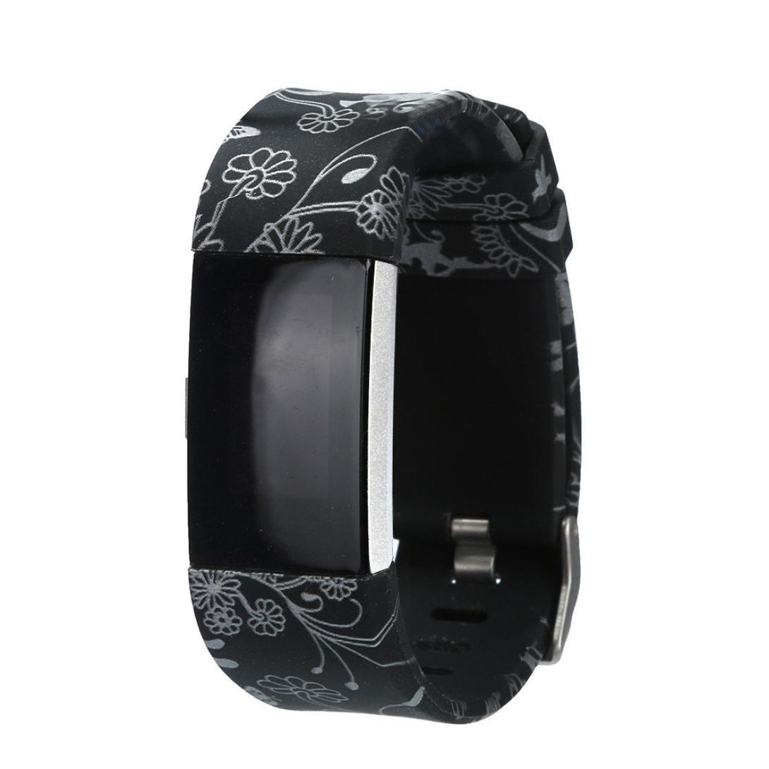 シリコン時計ストラップ、Ankola新しいファッションソフト時計バンド交換用手首ストラップfor Fitbit Charge 2 Smart Watch  E B072HR98QP