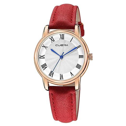 VEHOME Reloj Casual - Correa de Cuero - Cuarzo analógico-Relojes Inteligentes relojero Reloj reloje de Pulsera Marcas Deportivos: Amazon.es: Relojes