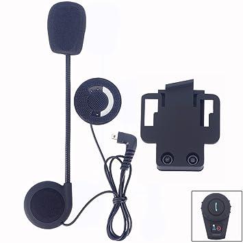 FDC – Juego de pinzas de micrófono Auriculares de altavoz y accesorios para casco de motocicleta