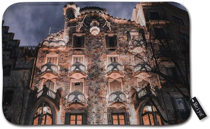 Jhonangel Barcelona España Fachada Exterior Interior Alfombra de Puerta Delantera Áreas de Alto tráfico Bienvenido Alfombras de Entrada 60x40cm / 24x16Inch: Amazon.es: Hogar
