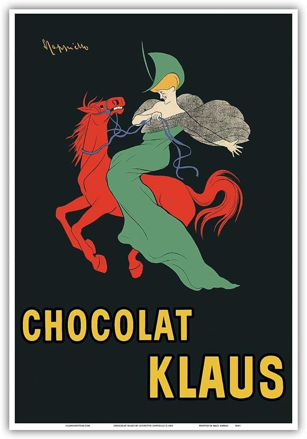 24x36 Chocolat Klaus Cappiello Vintage Ad Poster Print