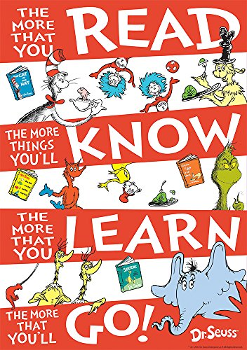 Eureka Dr. Seuss 'The More You Read' Classroom Poster, 13'' W x 19'' H]()