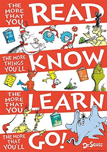 Eureka Dr. Seuss 'The More You Read' Classroom Poster, 13'' W x 19'' H