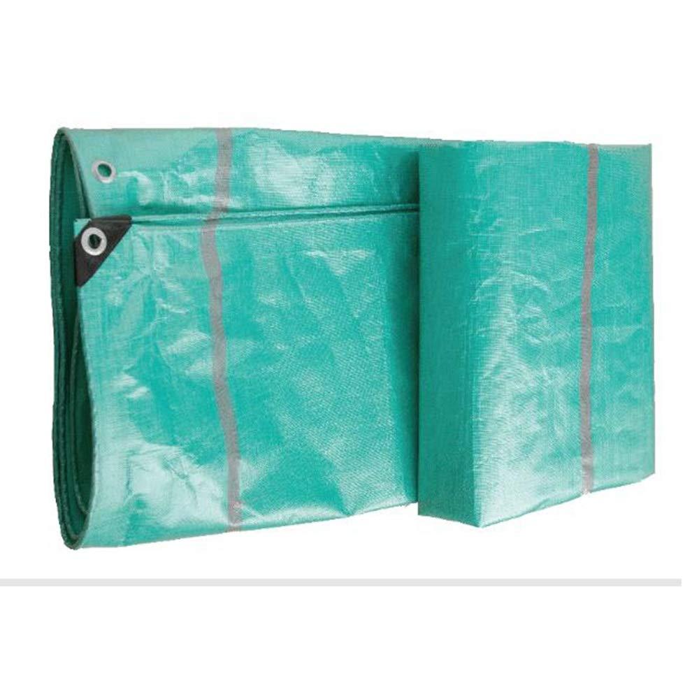 Plane Persenning Wasserdichtes Heavy Duty Grün-Planenblatt Premium-Qualitätsabdeckung aus 220 Gramm Quadratmeter 0,3 mm