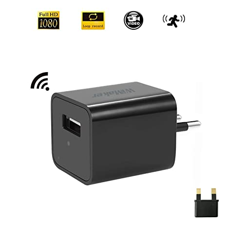 WiMaker HD 1080P Mini cámara para detección de Movimiento WiFi Remote View USB teléfonos de Carga