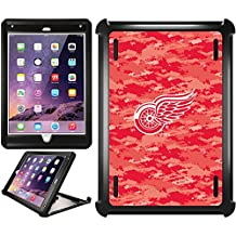 OtterBox iPad Air 2 Black Defender Series Case with Detroit Red Wings Digi Camo Color Design by Coveroo