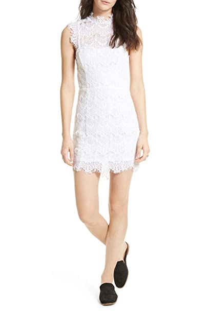 2a622a750eb8 Intimately Free People Womens Daydream Lace Open Back Party Dress White M  at Amazon Women's Clothing store: