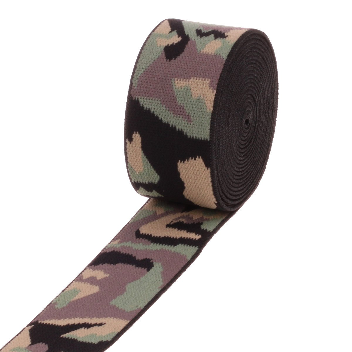 COTOWIN 1.5-inch Wide Camouflage Elastic, Double Face Plush Soft Comfortable Sewing Elastic Band - 3 Yards