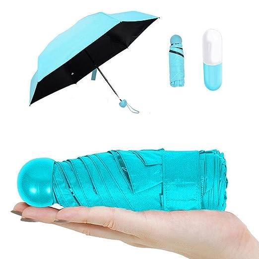 Pawaca Ultra Leicht Und Klein Anti Uv Mini Reise Regenschirm Mit