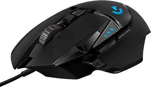 Logitech G502 HERO Mouse Gaming Prestazioni Elevate, Sensore HERO 25K, 25.600 DPI, RGB, Pesi Regolabili, 11 Pulsanti Programmabili, Memoria Integrata, PC/Mac/Laptop, Nero