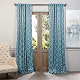 HPD HALF PRICE DRAPES Half Price Drapes BOCH-KC39-96 Blackout Curtain, Seville Dusty Teal Review
