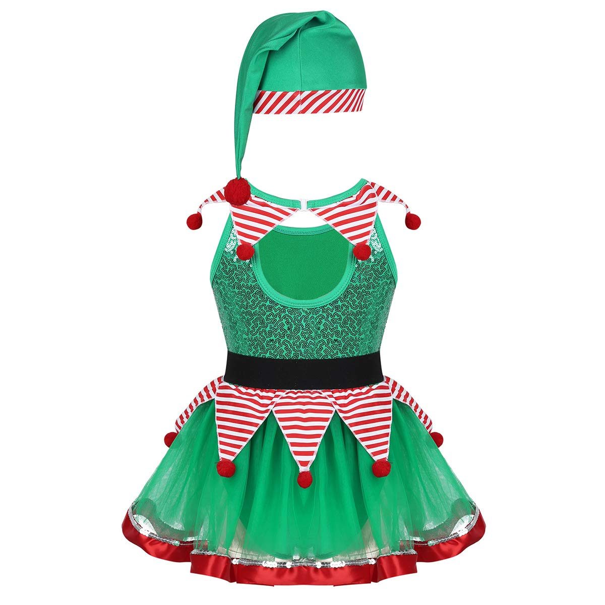 TiaoBug Disfraces de Papa Noel Santa Claus Duende Niños Infántil ...