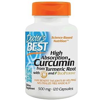 Doctors Best - Curcumin alto de la absorción del magnesio de la raíz 500 de la