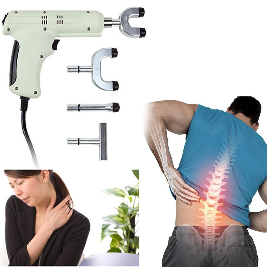 Hongxin DHL Chiropractic Adjusting Tool Spine Activator Medical Therapy Manual Chiropractic Adjusting GunInstrument Massager For Scoliosis/Thoracic Spondylosis/Cervical Spondylosis (White)