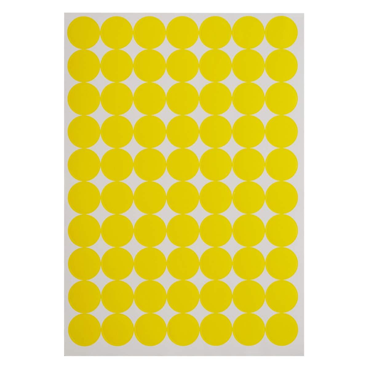 lumineux Orange Onupgo Lot de 1120/2,5/cm Round Dot Stickers Diam/ètre ronds Code couleur Cercle Dot /étiquettes Autocollant onglet /étiquettes