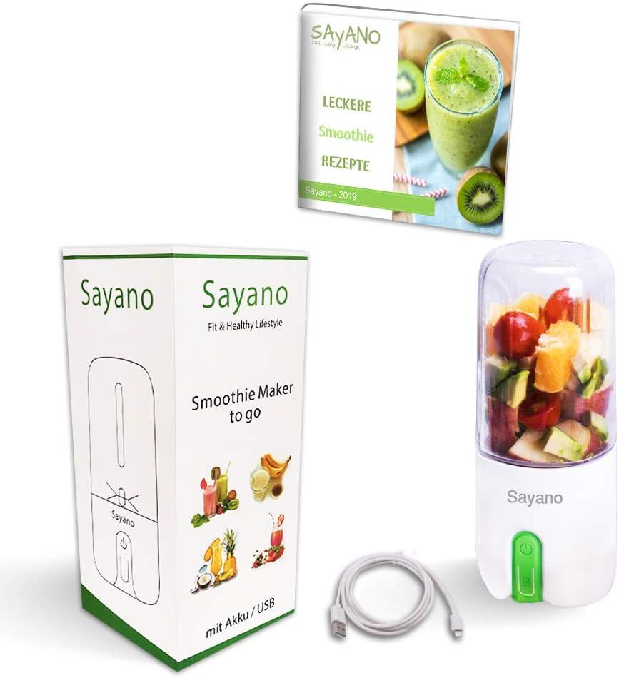 Sayano - Batidora/Mixer de Smoothies (USB, 480 ml), color verde: Amazon.es: Hogar