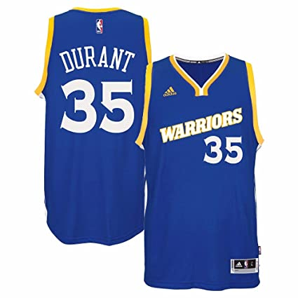 44dfd9af303 Kevin Durant Golden State Warriors NBA Adidads Men Blue Official Climacool  Away Swingman Jersey (2XL