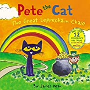 Pete the Cat: The Great Leprechaun Chase: Includes 12 St. Patrick's Day Cards, Fold-Out Poster, and Stick