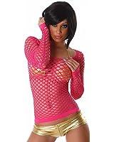 T-shirt manches longues en maille style filet spécial gogo danseuses Taille 34-38