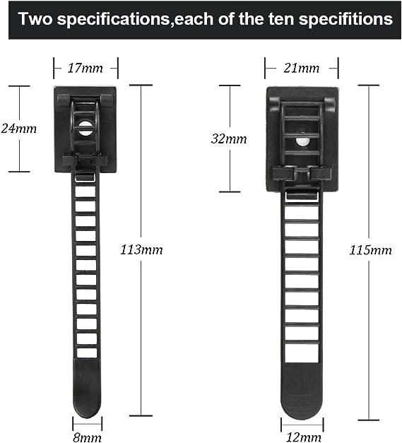 Kabelclips,Kabelhalterr Kabelmanagemen f/ür Haus Auto B/üro Kabelmanagement schwarz Kabelhalter mit Klebstoff Sinwind 80 St/ück Kabelklemme Selbstklebend