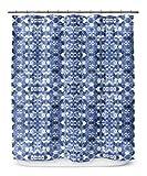 KAVKA DESIGNS Shibori Mirror Shower Curtain, (Blue) - SALTWATER Collection, Size: 70x90 - (BBAAVC6502LPLSC)