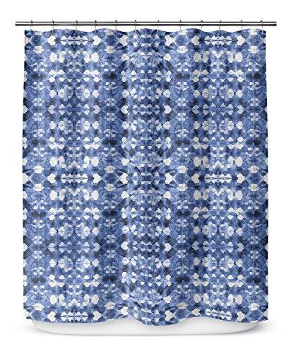 KAVKA DESIGNS Shibori Mirror Shower Curtain, (Blue) - SALTWATER Collection, Size: 70x90 - (BBAAVC6502LPLSC) by KAVKA DESIGNS