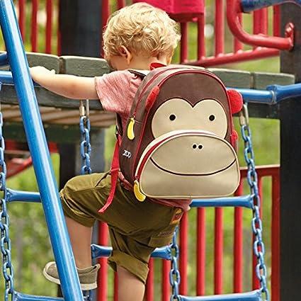 Skip Hop Zoo Kleinkind Rucksack mehrfarbig Affe Marshall mit Namensschild