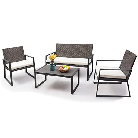 Amazon Com Myeasyshopping Patio Furniture Wicker Sofa Outdoor