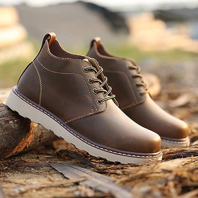 Zapatos de hombre JiaMeng Zapatos Masculinos Casual Mocasines Costura Deporte Zapatos Retro Hechos a Mano de Marca de Lujo Zapatos de Vestir Botas Cortas: ...